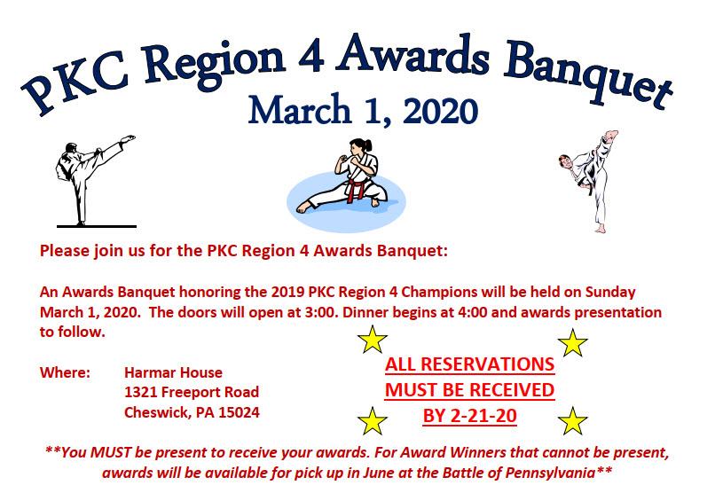 PKC Region 4 Awards Banquet